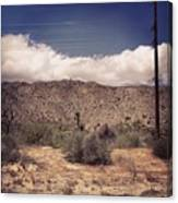Cloud Blankets Over Joshua Tree Canvas Print