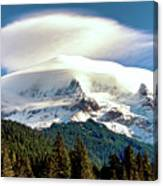 Cloud Capped Mount Hood Canvas Print