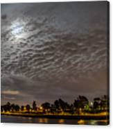 Cloud Covered Moon Canvas Print