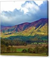 Cloud Covered Peaks Canvas Print