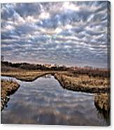 Cloud Covered River 2 Canvas Print