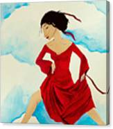 Cloud Dancing Of The Sky Warrior Canvas Print