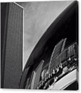 Cloud Gate And Aon Center Black And White Canvas Print