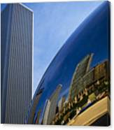Cloud Gate And Aon Center Canvas Print
