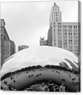 Cloud Gate Chicago Bw 3 Canvas Print