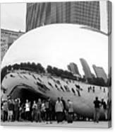 Cloud Gate Chicago Bw 4 Canvas Print