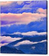Cloud Layers At Sunset Canvas Print