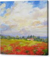 Cloud Poppies Canvas Print