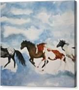 Cloud Runners Canvas Print