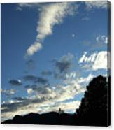 Cloud Sweep And Silhouette Canvas Print