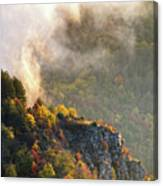 Clouds Above The Crest Of The Mountain Canvas Print