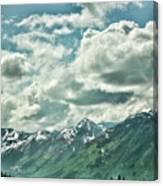 Clouds Alaska Mtns  Canvas Print