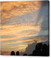 Clouds And Silos  Canvas Print