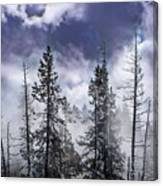 Clouds And Snow Swirling Canvas Print