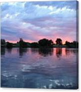 Clouds And Sunset Reflection In Prosser Canvas Print