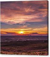 Clouds And Sunset Canvas Print