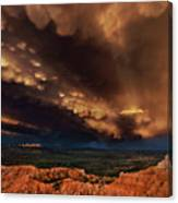 Clouds And Thunderstorm Bryce Canyon National Park  Canvas Print