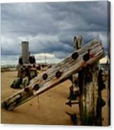 Clouds And Wooden Structure Canvas Print