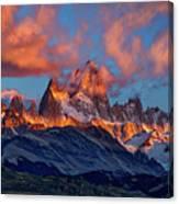 Clouds Around Fitz Roy - Patagonia Canvas Print