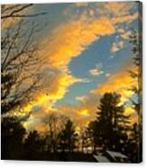 Clouds Catching The Evening Light Canvas Print