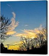 Clouds Dancing To The Sunset Light Canvas Print