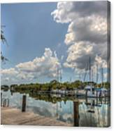 Clouds Down The Bay Canvas Print