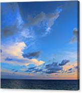 Clouds Drifting Over The Ocean Canvas Print