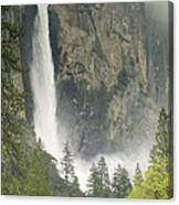 Clouds Hang Over Bridaveil Falls Canvas Print
