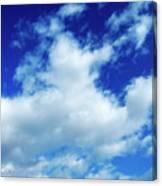 Clouds In A Beautiful Blue Sky Canvas Print