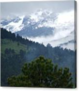 Clouds In The Rockies Canvas Print