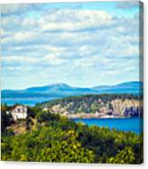 Clouds Over Acadia Canvas Print