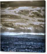 Clouds Over Bristol Hdr Split Toning Canvas Print