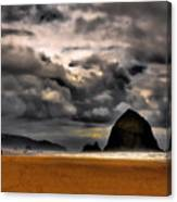 Clouds Over Cannon Beach Canvas Print
