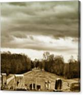 Clouds Over Cemetery Canvas Print