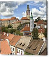 Clouds Over Cesky Krumlov Canvas Print