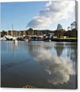 Clouds Over Cockwells Boatyard Mylor Bridge Canvas Print
