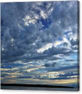 Clouds Over English Bay From Sunset Beach Vancouver Canvas Print
