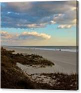 Clouds Over Holden Beach Canvas Print
