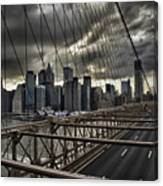 Clouds Over Manhattan Canvas Print
