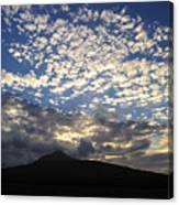 Clouds Over Mount Slievemore Canvas Print