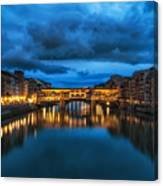 Clouds Over Ponte Vecchio Canvas Print