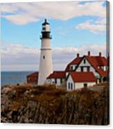 Clouds Over Portland Head Lighthouse 3 Canvas Print