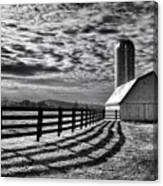 Clouds Over The Farm Canvas Print