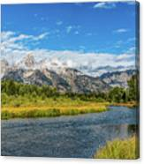 Clouds Over The Grand Tetons Canvas Print