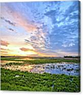 Clouds Over The Marsh 4 Canvas Print