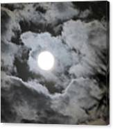 Clouds Over The Moon Canvas Print