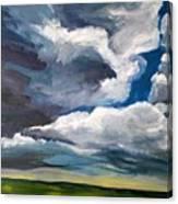 Clouds Over The Prairie Canvas Print