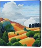 Clouds Over Windy Hill Canvas Print