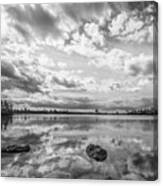 Clouds Touching The Water Canvas Print