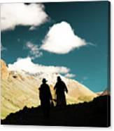Clouds Way Kailas Kora Himalayas Tibet Yantra.lv Canvas Print